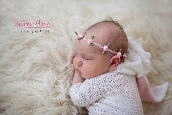 baby headband girl headband elastic headband baby girl photo prop newborn headband infant headband Pink chevron headband baby gift