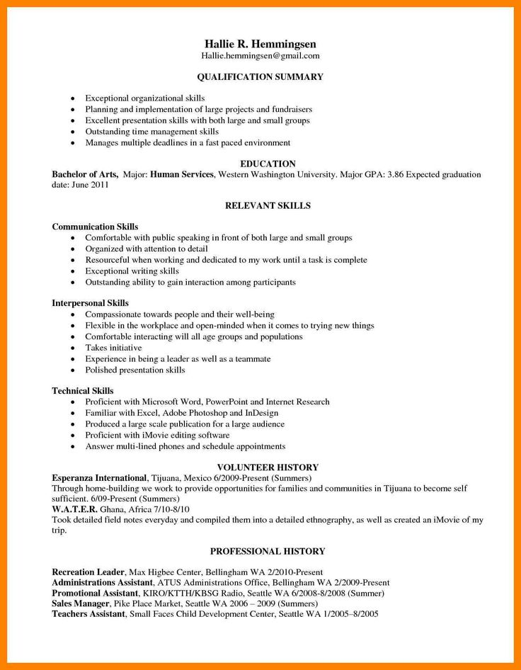 image result for skill based resume examples  resume