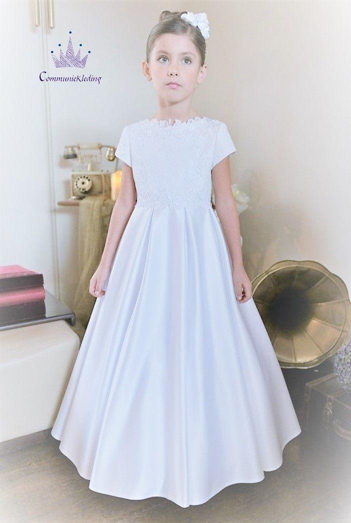Communie jurk met korte mouwen