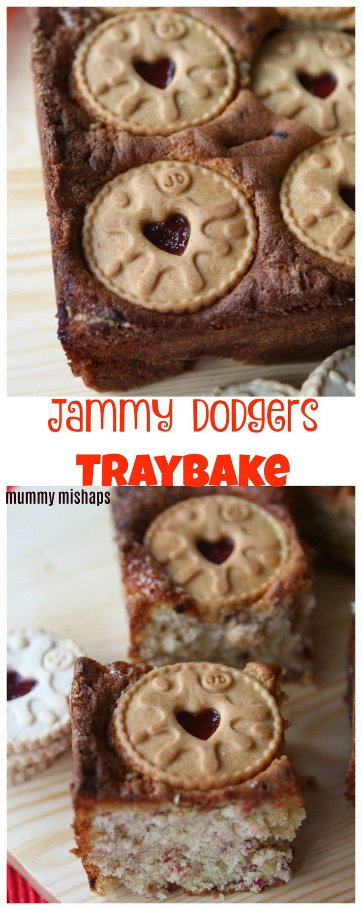 Jammy Dodgers Traybake Cake - mummy mishaps