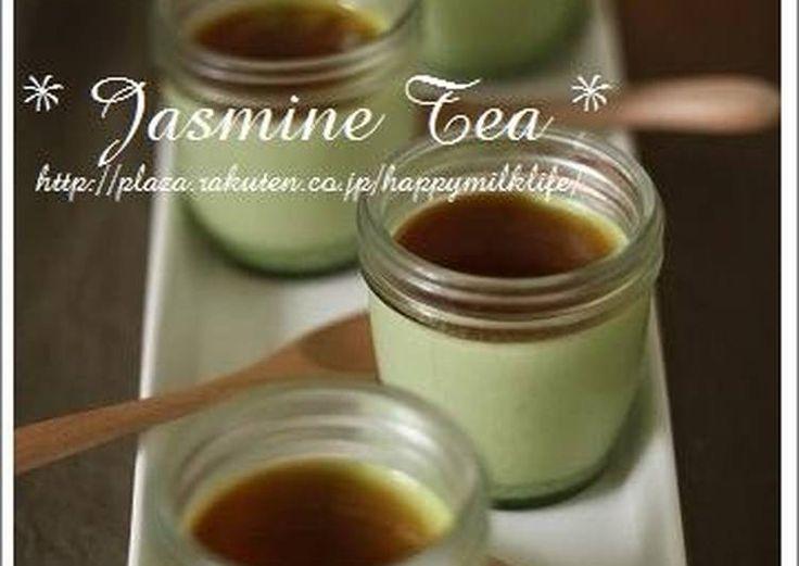 Matcha Pudding with Green Tea