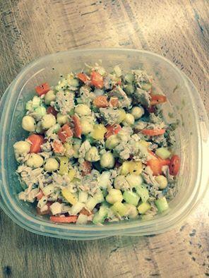 Tuna fish salad kicked up a notch! Click for recipe.
