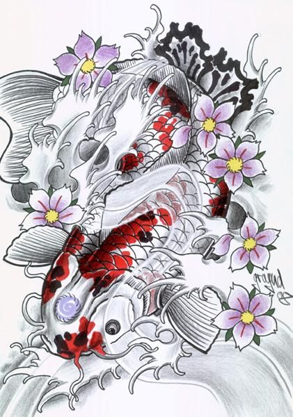 Ms de 25 ideas increbles sobre Pez koi en Pinterest  Tatuaje
