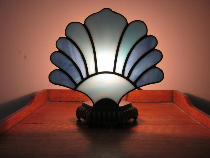 10 best stained glass lamp shadesfans images on pinterest stained accent lamp with scalloped base fan is x aloadofball Image collections