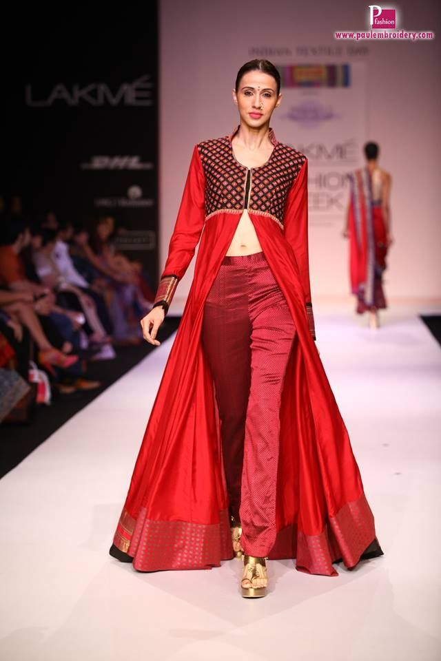 Shruti & Soumitra Collection At Lakme Fashion Week | Paul Embroidery