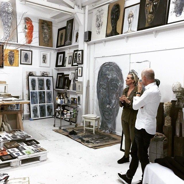 Karin Meyn at the studio of mart visser, amsterdam