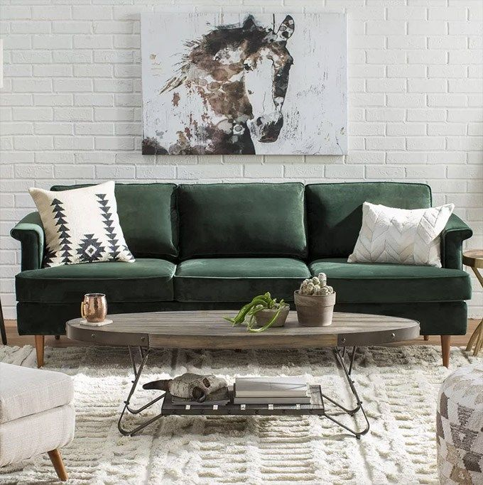 25 Stunning Living Rooms With Blue Velvet Sofas Blue Couch