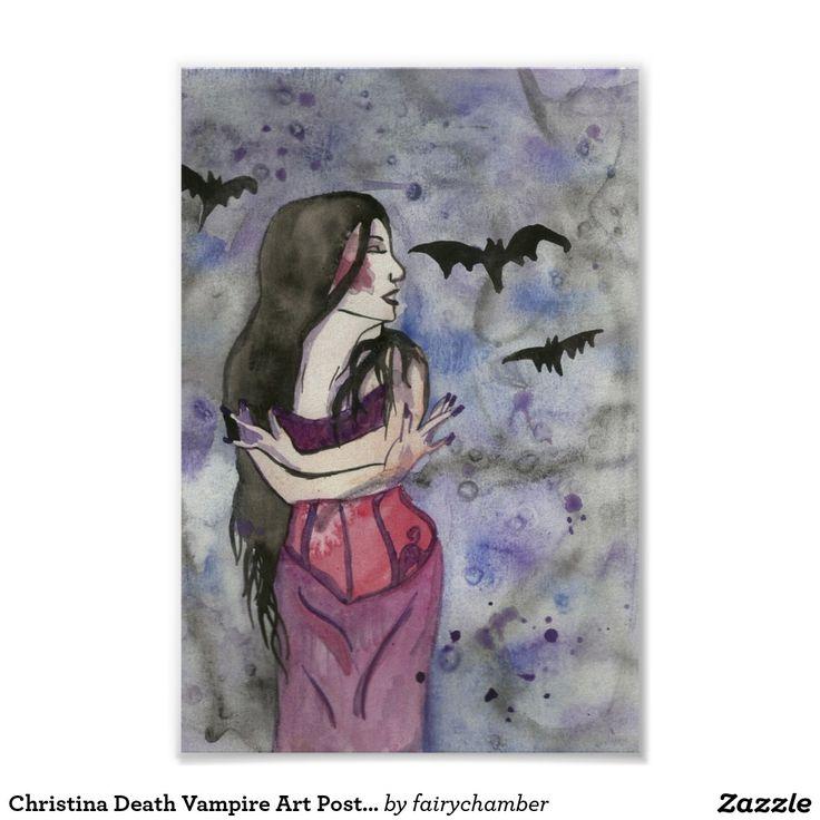 Christina Death Vampire Art Posters