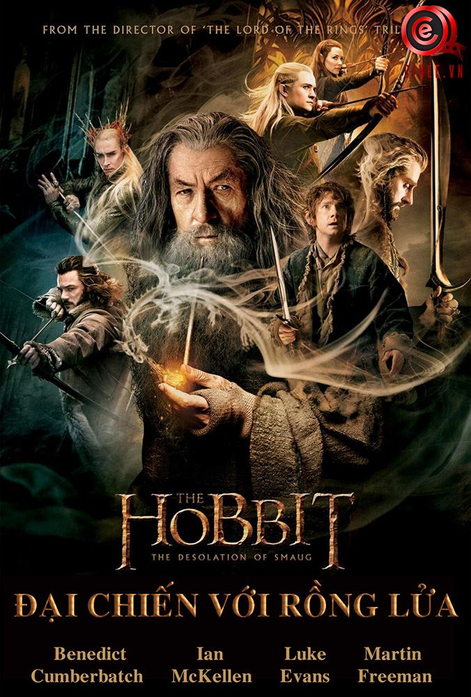Chép phim HD The Hobbit The Desolation of Smaug 2014 - Đại chiến với rồng lửa tại www.cinee.vn