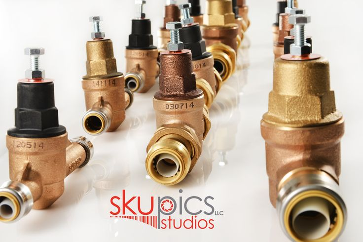 Industrial Product Image: Plumbing Valves ready for their portraits!