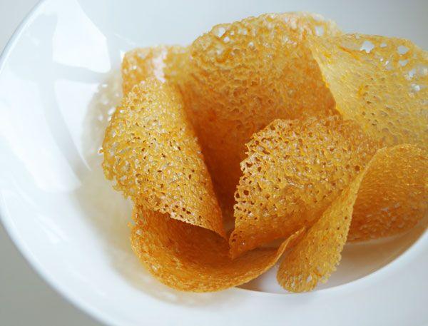 Orange Lace Cookies