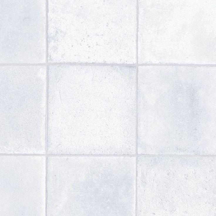 Colours Azzida White Stone Effect Vinyl cut instore to chosen length Sheet | Departments | DIY at B&Q