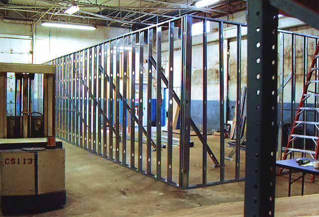 Metal Stud Construction Metal Stud Framing Metal Studs Pinterest Metals Construction