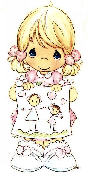 Precious Moments DÍA DE SAN VALENTÍN Tarjetas Cards Illustration IMÁGENES Art Illustration