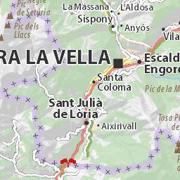 Carte détaillée Andorra - plan Andorra - ViaMichelin