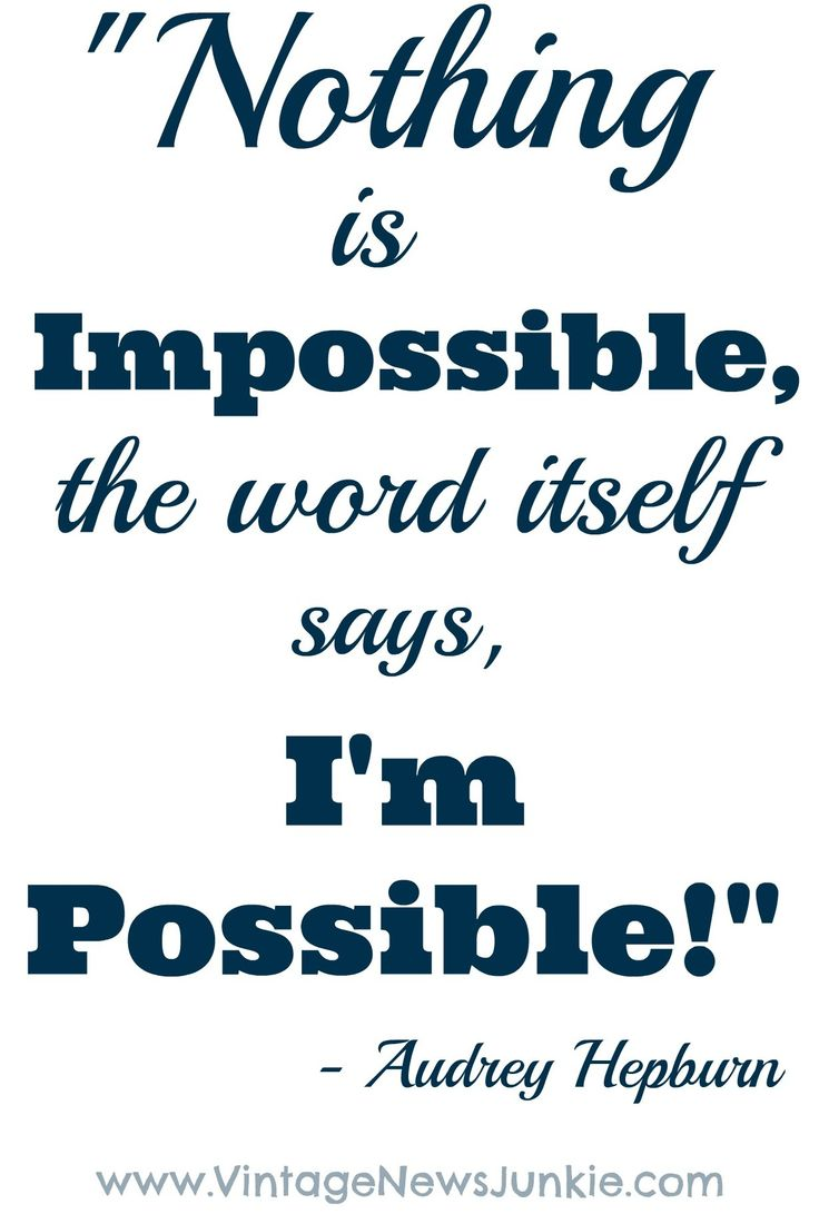 Nothing is Impossible... One Girl's Journey to a New Life! -Vintage News Junkie