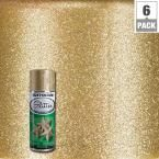 Rust-Oleum Specialty 10.25 oz. Gold Glitter Spray Paint (6-Pack)