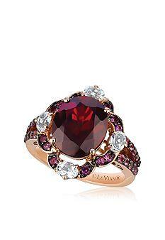 Le Vian® 14k Strawberry Gold® Pomegranite Garnet™, Ocean Blue Topaz™, Pink Tourmaline™ and Cotton Candy Amethyst® Ring - Belk Exclusive