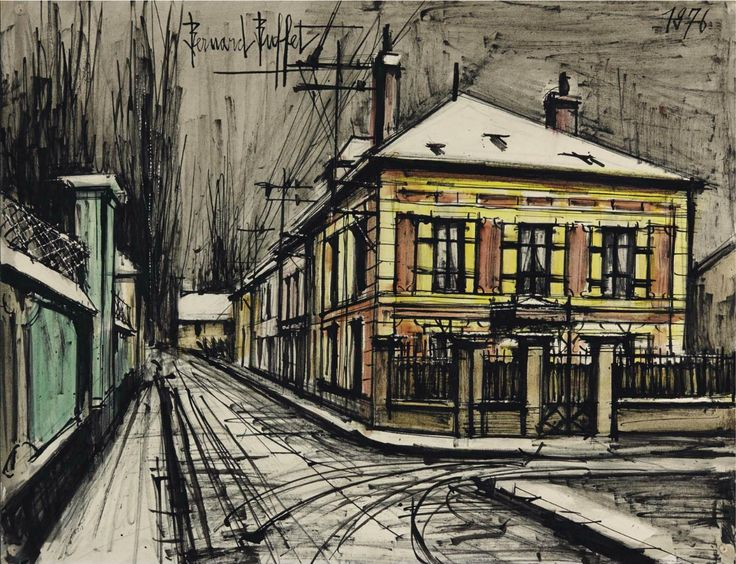 Noisy-le-Sec (Seine et Oise) 1976. 50 x 65 cm. Bernard Buffet (1928-1999)