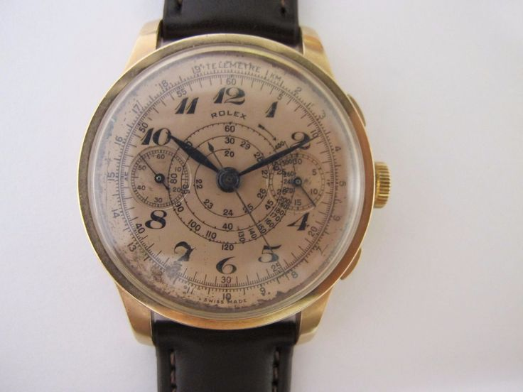 #Forsale #Rolex Vintage 18k Pink Gold Chronograph 37mm Ref 2508 Original Pink Dial Rare - Price @$8,600.00