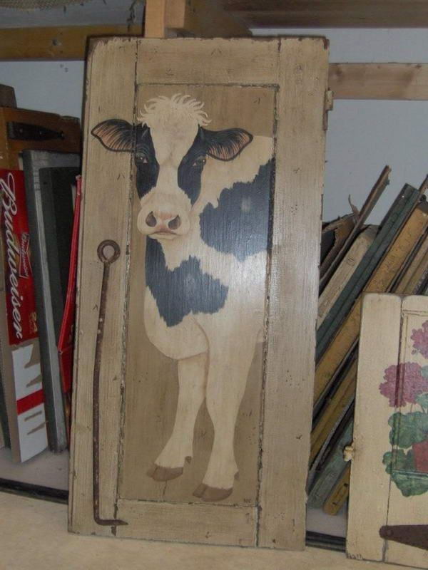 Love this cow!! how to and decorative painted chairs