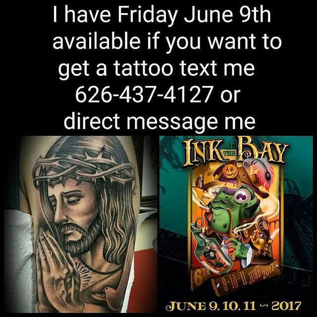 My peeps we are 3 weeks away from Monterey California  @inkatthebay tattoo expo June 9-10-11... I still have Friday the 9th available if you want to get a tattoo by me hit me up asap...great show check it out..#seriousink #seriousinktattoo #sgv #cali #california #ca #calilifestlye #ink #tatt #tatted #inked #bestink #nocal #montereycalifornia #tattooed #inkaddict #montereylocals - posted by Edgar-Big Serio https://www.instagram.com/edgar_bigserio_tattoo - See more of Monterey, CA at…