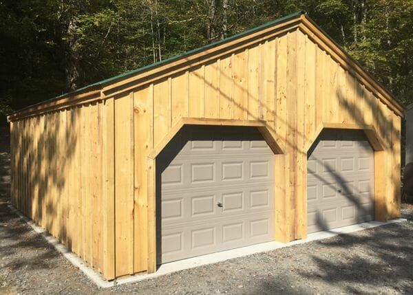 One Bay Garage Kit Single Car Garage Kit Jamaica Cottage Shop In 2020 Garage Door Design Shed Plans Garage Doors