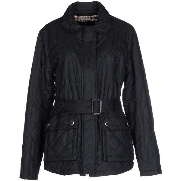 Aquascutum Jacket (€385) found on Polyvore featuring women's fashion, outerwear, jackets, dark blue, zip pocket jacket, aquascutum, sash…