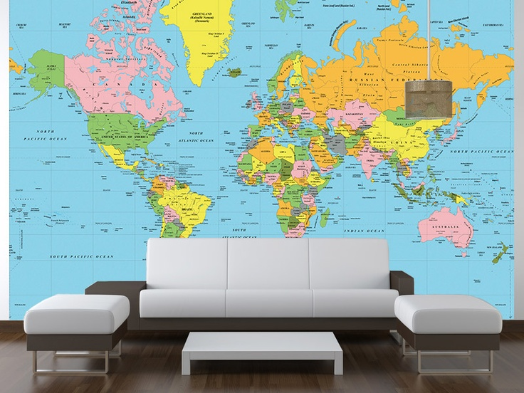 1000 ideas about world political map on pinterest for Amazon world map mural