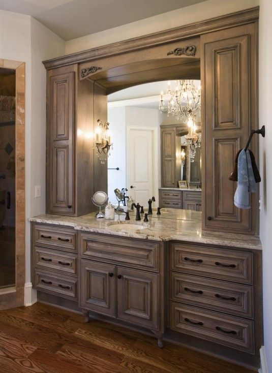 Large single sink vanity google search bathroom ideas for Bathroom cabinet ideas photos