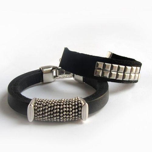 DIY 2 Leather Bracelet Tutorials form El Cuaderno de Ideas...
