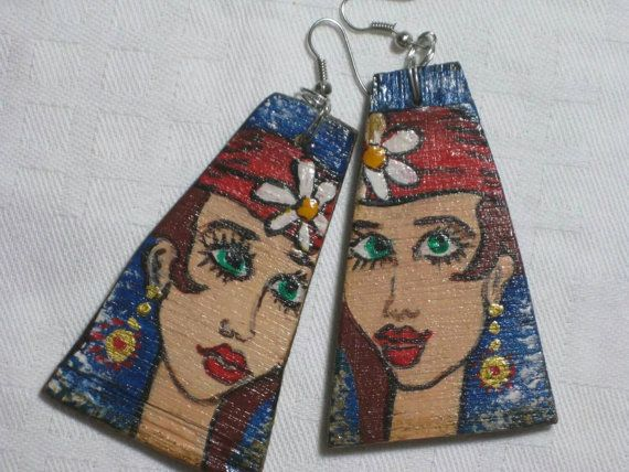 Check out this item in my Etsy shop https://www.etsy.com/listing/228177115/handmade-wooden-earrings-painted