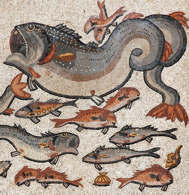 Predators and prey : a Roman mosaic from Lod, Israel