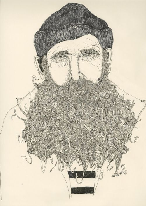 : Beards, Hooks, Illustrations, Captain Hook, Kristinamicotti, Art, Hook Beard, Beard Kristina Micotti, Drawing