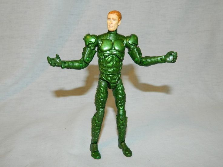 "Spiderman Super Poseable GREEN GOBLIN 6"" Action Figure ToyBiz Movie 1 2002 #ToyBiz"