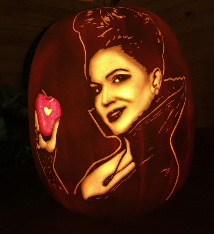 Once upon a time evil queen regina hand carved foam