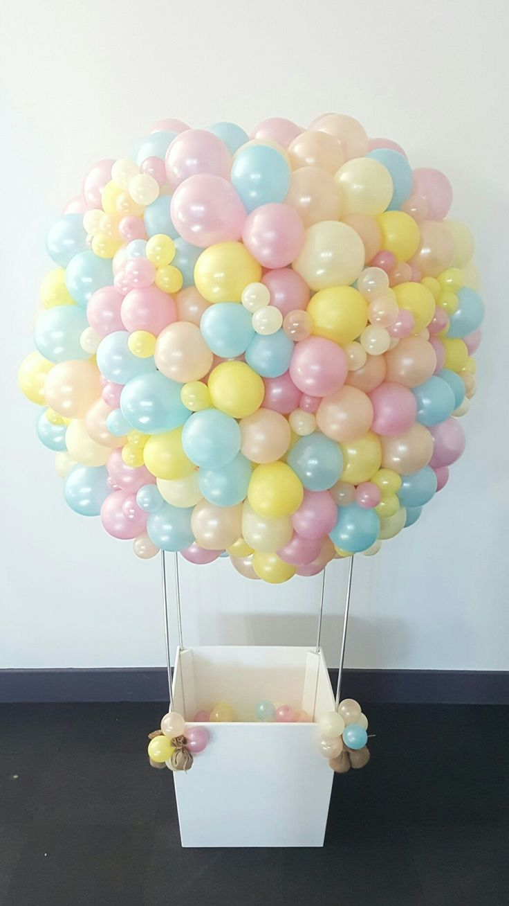 Just wow. We are so pleased with our custom made organic hot air balloon sculpture. Featuring beautifully finished white basket and a 1.5m diameter balloon