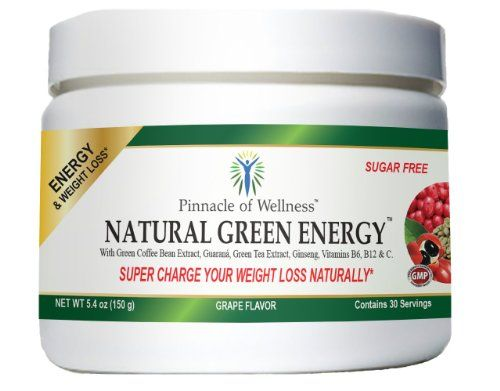 Natural Green Energy - Packed with Pure Green Coffee Bean Extract 800mg - Pure Green Tea Extract - Energizing Ginseng and Brazilian Guaraná - Vitamin C - B6 & B12 this delicious grape flavored beverage infuses you with long lasting energy any time of day - This Sugar Free Energy Drink is a lean, mean slimming machine by boosting your energy, metabolism and fat burning - 100% All Natural - Just Add Powder to Water - knock out cravings, control your appetite - Max out your ene