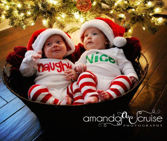 How funny for twins christmas outifts there is always a naughty twin and a nice one i know because i am the nice twin and is the naughty one