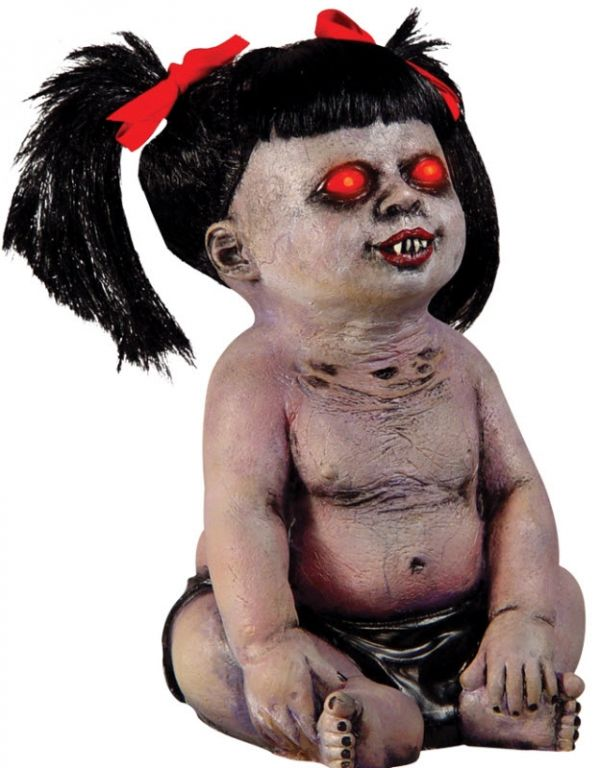 demonica undead zombie baby prop decoration light up eyes sound halloween