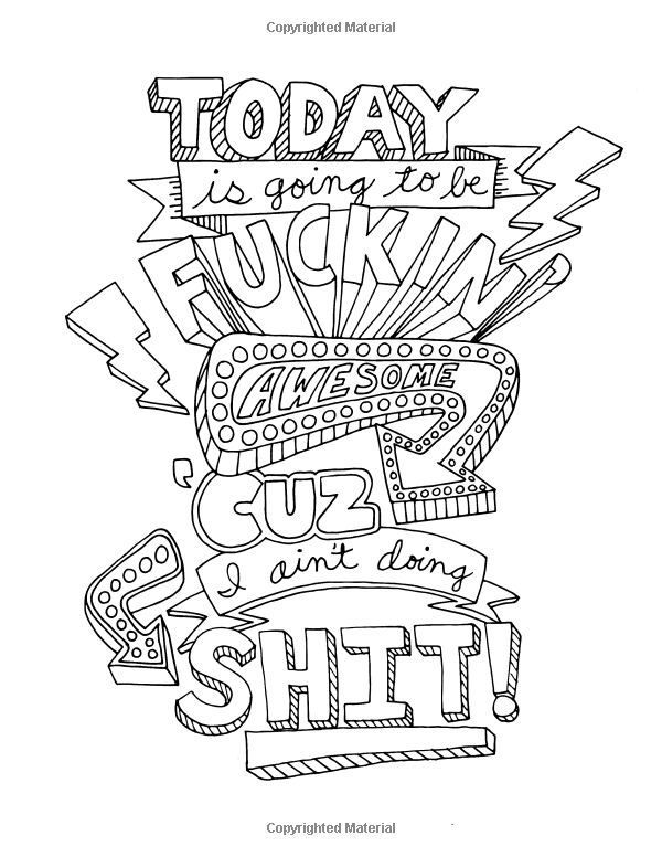 210 best Swear Word Coloring Pages images on Pinterest