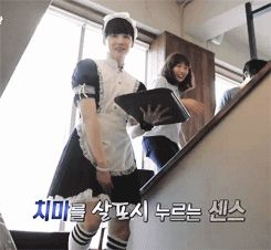 Why does he look better than I ever will in a maid costume