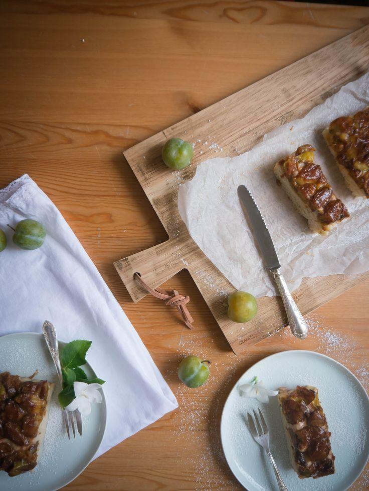 Gelbe Pflaumen, Reineclauden Kuchen mit Marzipan.... Ein kleiner Knaller