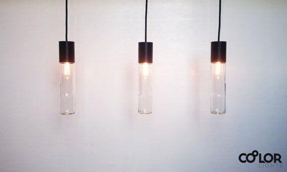 Set of glass pendant lights  #pendant #recycling #pendant_light #glass