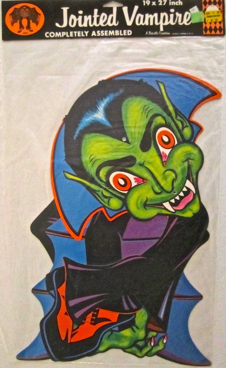 my vintage halloween jointed vampire by beistle - Beistle Halloween Decorations