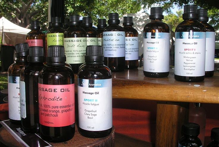 Boutique massage and well-being oils by Lydia at the Port Douglas Market    http://www.facebook.com/portdouglasmarket