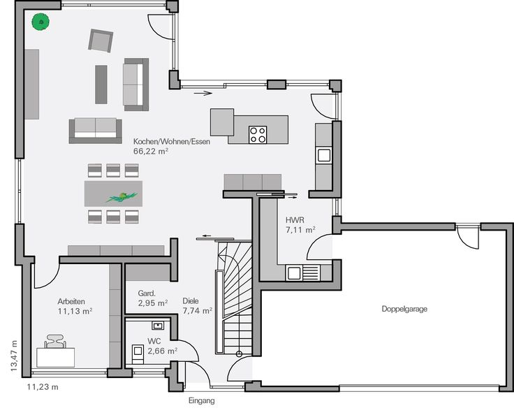 Die besten 17 ideen zu moderner bungalow auf pinterest for Grundriss efh modern