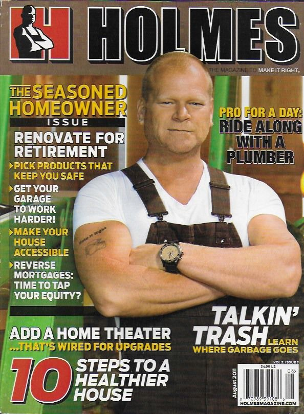 Holmes magazine Homeowner issue Renovate Home theater House tips Garage Plumber