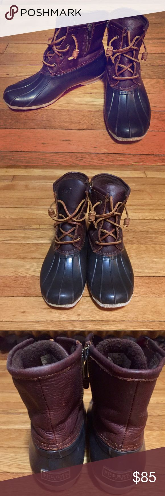 Sperry Duck Boots - Size 8 (women's) 100% Authentic. Waterproof  Only worn 3 times. Nothing wrong with them at all, look practically like new!  Price is firm. Let me know if you would like any more pictures Sperry Shoes Winter & Rain Boots