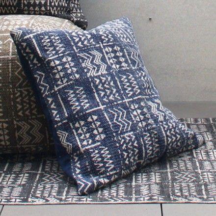 Stonewash Indoor/Outdoor CUSHION Blue